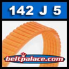 142J5 Poly-V Belt, Metric 5-PJ350 Motor Belt.