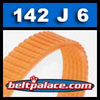 142J6 Poly-V Belt, Metric 6-PJ360 Motor Belt.