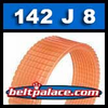 142J8 Poly-V Belt, Metric 8-PJ360 Motor Belt.