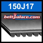 150J17 Poly-V Belt. Metric 17-PJ381 Motor Belt.