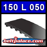 """150L050 TIMING BELT. 15 inch Length, 3/8"""" Inch pitch, 40 teeth. !/2"""" Top Width."""
