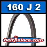 160J2 Poly-V Belt, Industrial Grade. Metric 2-PJ406 Motor Belt.