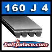 160J4 Poly-V Belt, Metric 4-PJ406 Motor Belt.