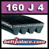 160J4 Poly-V Belt (Standard), Metric 4-PJ406 Motor Belt.