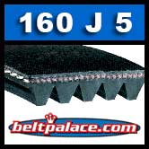 160J5 Poly-V Belt, Metric 5-PJ406 Motor Belt.