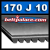 170J10 Heavy Duty Poly-V Belt. Metric 10-PJ432 Motor Belt.