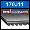 170J11 Poly-V Belt, Metric 11-PJ432 Motor Belt.
