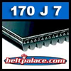 170J7 Poly-V Belt. Metric 7-PJ432 Drive Belt.