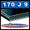 170J9 Poly-V Belt, Metric 9-PJ432 Motor Belt.