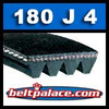 180J4 Poly-V Belt, Industrial Grade Metric 4-PJ457 Drive Belt.