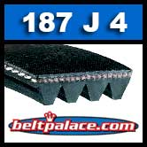 187J4 Poly-V Belt, Metric 4-PJ475 Drive Belt.