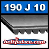 190J10 Poly-V Belt, Metric 10-PJ483 Motor Belt.