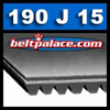 190J15 BANDO Poly-V Belt. Metric 15-PJ483 Motor Belt.