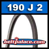 190J2 Poly-V Belt, Industrial Grade. Metric 2-PJ483 Motor Belt.