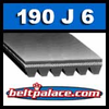 190J6 Poly-V Belt. Metric 6-PJ483 Motor Belt