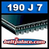 190J7 Poly-V Belt (Heavy Duty). Metric 7-PJ483 Drive Belt.