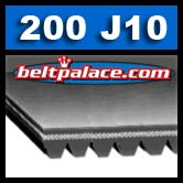 200J10 Poly-V Belt, Metric 10-PJ508 Motor Belt.