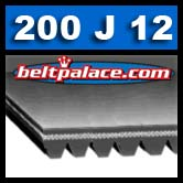 200J12 Poly-V Belt. Metric Belt 12-PJ508