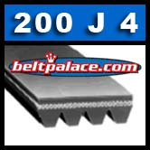 200J4 Poly V Belt, Metric PJ508-4 Rib.