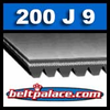 200J9 Poly-V Belt. Metric 9-PJ508 Motor Belt.