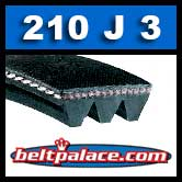 210J3 Poly-V Belt, Metric 3-PJ533 Motor Belt.