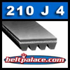 210J4 Industrial Grade Poly V Belt,  Metric 4-PJ533 Motor Belt.