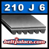 210J6 Industrial Grade Poly-V Belt. 6-PJ533 Metric belt.