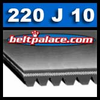 220J10 Poly-V Belt. Metric belt 10-PJ559.