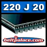 220J20 Poly-V Belt. Metric 20-PJ559 Motor Belt.