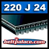 220J24 Poly-V Belt, Metric 24-PJ559 Motor Belt.