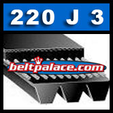 220J3 Poly-V Belt. Metric 3-PJ559 Motor Belt.