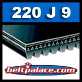 220J9 Poly-V Belt, Industrial Grade Metric 9-PJ559 Motor Belt.