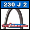 230J2 Poly-V Belt, Metric 2-PJ584 Motor Belt.