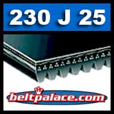 230J25 Poly-V Belt, Metric 25-PJ584 Motor Belt.