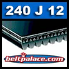 240J12 Poly-V Belt. Metric 12-PJ610 Motor Belt.