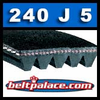240J5 Poly-V Belt, Metric 5-PJ610 Motor Belt.