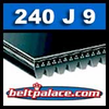 240J9 Poly-V Belt, Metric 9-PJ610 Motor Belt.