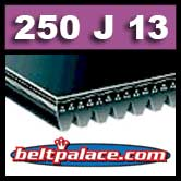 250J13 Poly-V Belt. Metric 13-PJ635 Motor Belt.
