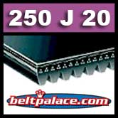 250J20 Poly-V Belt. Metric 20-PJ635 Motor Belt.