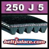 250J5 Poly-V Belt. Metric 5-PJ635 Motor Belt.