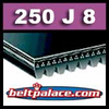 250J8 Poly-V Belt. Metric 8-PJ635 Motor Belt.
