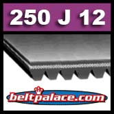250J12 Poly-V Belt,  Metric 12-PJ635 Motor Belt.