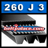 260J3 Poly-V Belt, Metric 3-PJ660 Motor Belt.