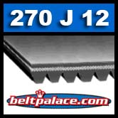 270J12 Poly-V Belt, Metric 12-PJ686 Motor Belt.
