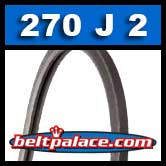270J2 Poly-V Belt, Metric 2-PJ686 Motor Belt.