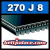 270J8 Poly-V Belt, Industrial Grade Metric 8-PJ686 Drive Belt.