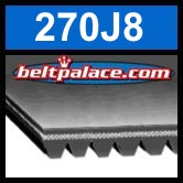 270J8 Poly-V Belt,  Metric 8-PJ686 Motor Belt.