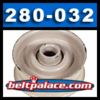 280-032, FLAT IDLER PULLEY for SNAPPER 1-3850, 7013850 and others listed.