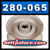 280-065, FLAT IDLER PULLEY for JOHN DEERE AM102323, AM32705 and others listed.