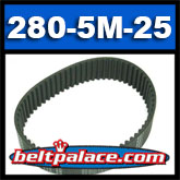280-5M-25 HTD Synchronous Timing belt.
